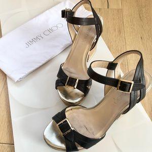 Jimmy Choo Cork-Heel Sandals